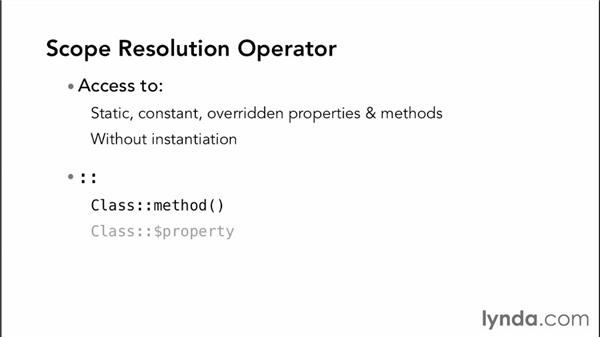 Leveraging scope resolution operators: Object-Oriented Programming with PHP
