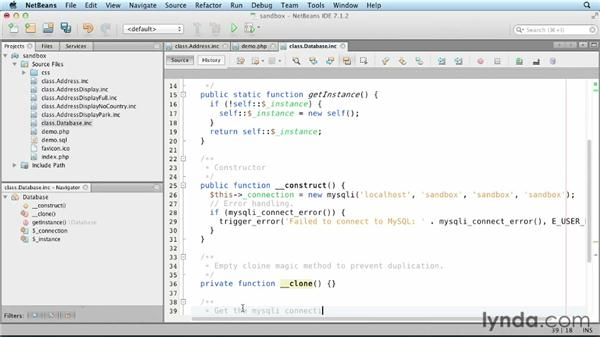 Creating a database class: Object-Oriented Programming with PHP