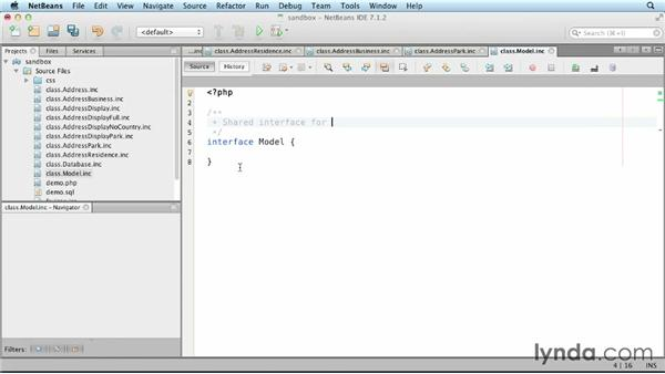 Sharing interfaces using polymorphism: Object-Oriented Programming with PHP