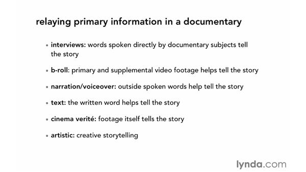 Defining the project approach: Documentary Editing with Avid Media Composer