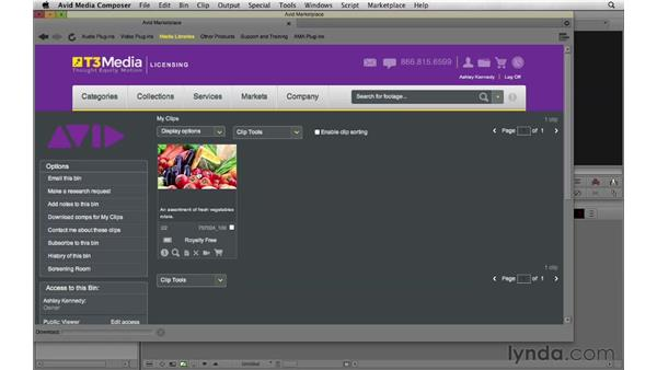 Looking for stock footage using the Avid Marketplace: Documentary Editing with Avid Media Composer