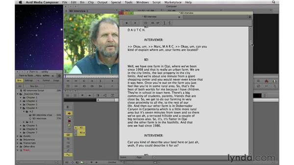 Syncing a script using ScriptSync: Documentary Editing with Avid Media Composer