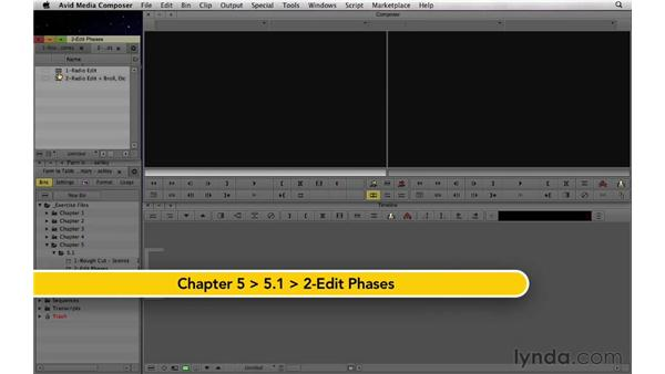 An overview of the rough cut process: Documentary Editing with Avid Media Composer