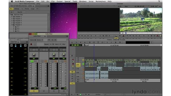 Correcting audio: Documentary Editing with Avid Media Composer