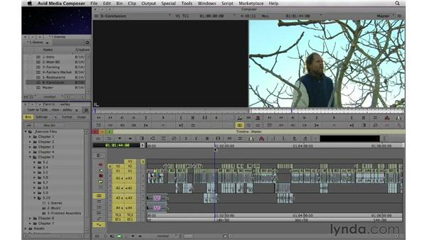 Putting it all together: Completing the assembly edit: Documentary Editing with Avid Media Composer