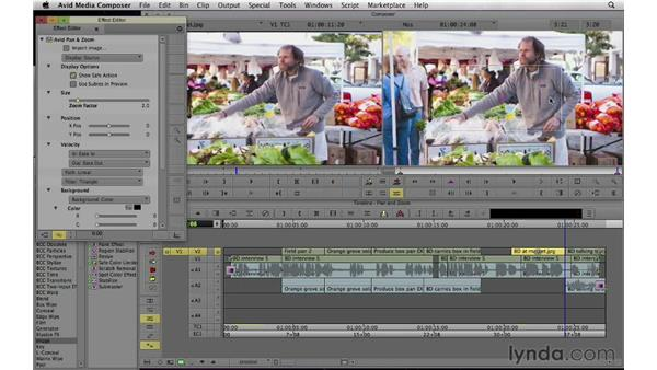 Adding movement to static images: Documentary Editing with Avid Media Composer