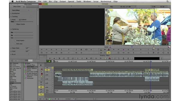 Changing and fixing portions of the video frame: Documentary Editing with Avid Media Composer