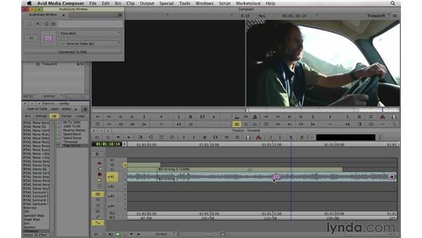 Compressing and expanding time in video and audio: Documentary Editing with Avid Media Composer