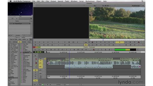 Repairing jump cuts using the FluidMorph plug-in: Documentary Editing with Avid Media Composer