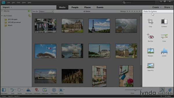 Getting acquainted with Elements workspaces: Up and Running with Photoshop Elements 11