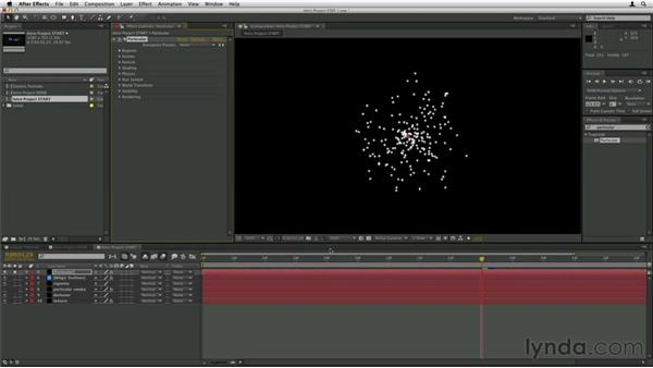 Creating the smoke emitter: Trapcode Particular Essential Training