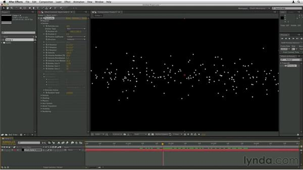 Working with different emitter types: Trapcode Particular Essential Training