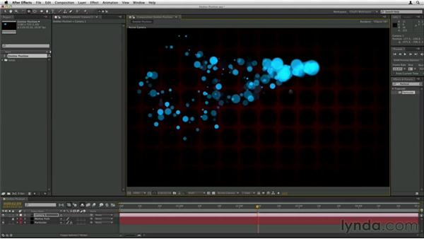 Animating emitter position: Trapcode Particular Essential Training