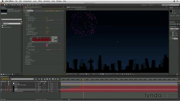 Drawing particle opacity: Trapcode Particular Essential Training