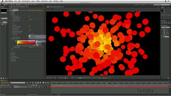 Coloring particles: Trapcode Particular Essential Training