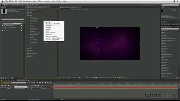 Using another layer as a particle: Trapcode Particular Essential Training