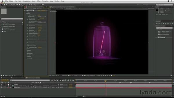 Using Particular in 3D scenes: Trapcode Particular Essential Training