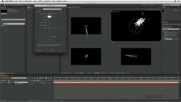 Using After Effects lights as emitters: Trapcode Particular Essential Training