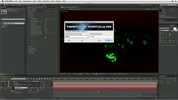 Using light falloff on particles: Trapcode Particular Essential Training