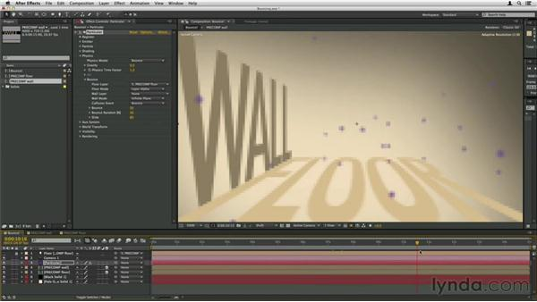 Bouncing particles off of other layers: Trapcode Particular Essential Training