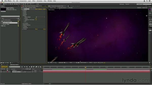 Globally adjusting particle timing: Trapcode Particular Essential Training
