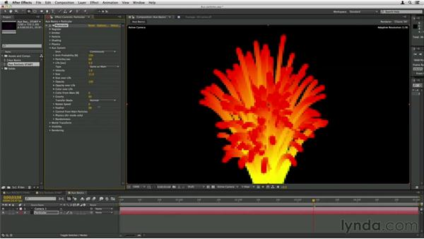 Adding complexity with the aux system: Trapcode Particular Essential Training