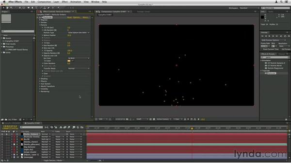 Adding embers: Trapcode Particular Essential Training