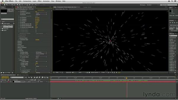 About particle motion blur: Trapcode Particular Essential Training
