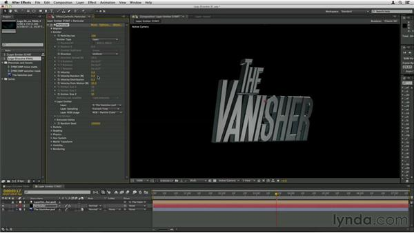Using a layer emitter: Trapcode Particular Essential Training