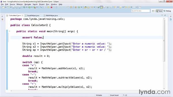 Exploring test-driven development with the assert keyword: Java Advanced Training