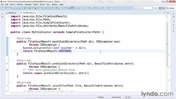 Walking the directory tree: Java Advanced Training