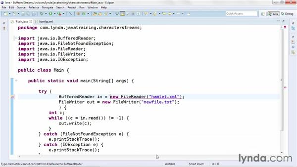 Using buffered streams: Java Advanced Training