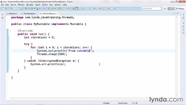 Implementing the Runnable interface: Java Advanced Training