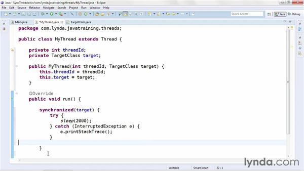 Synchronizing threads: Java Advanced Training
