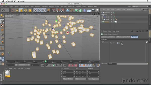 Modifying clones with Effectors: CINEMA 4D Essentials 7: MoGraph Modeling and Animation