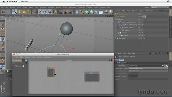 Linking objects to points with Xpresso: CINEMA 4D Essentials 8: Character Rigging and Xpresso