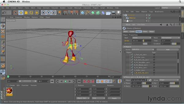 Creating character movement with CMotion