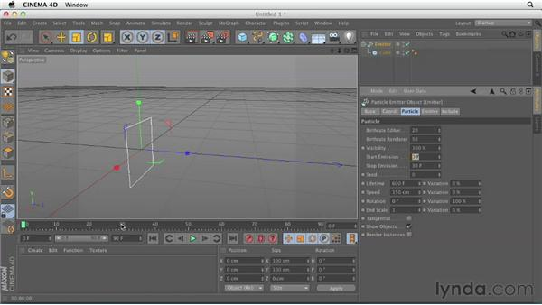 Understanding the Emitter object: CINEMA 4D Essentials 9: Particles and Dynamics