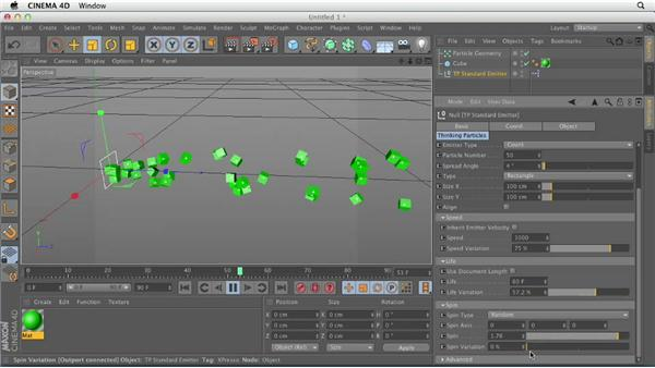 Breaking down the TP standard emitter: CINEMA 4D Essentials 9: Particles and Dynamics