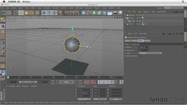 Working with MoGraph and dynamics: CINEMA 4D Essentials 9: Particles and Dynamics