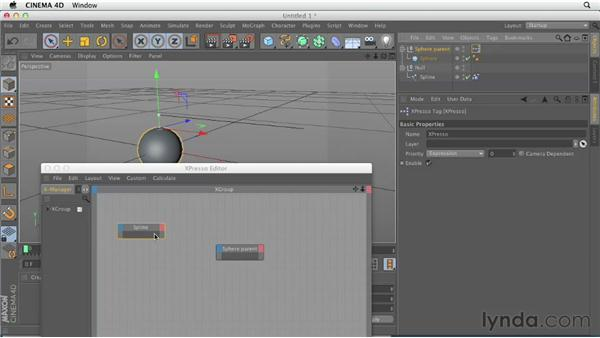 Creating dangling objects with spline dynamics: CINEMA 4D Essentials 9: Particles and Dynamics