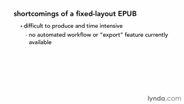 The benefits and shortcomings of a fixed-layout EPUB: Digital Publishing Fundamentals