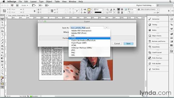 Working with Adobe InDesign: Digital Publishing Fundamentals