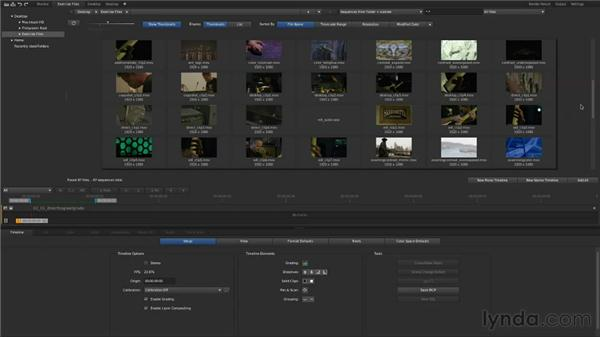 Importing clips directly into SpeedGrade: Up and Running with SpeedGrade