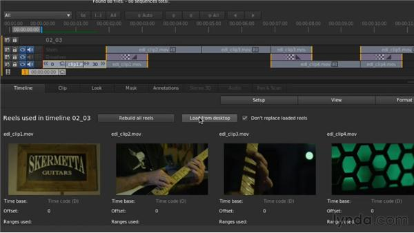 Conforming a project with an Edit Decision List (EDL): Up and Running with SpeedGrade