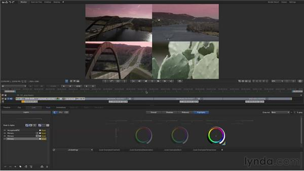 Using playheads to compare shots: Up and Running with SpeedGrade