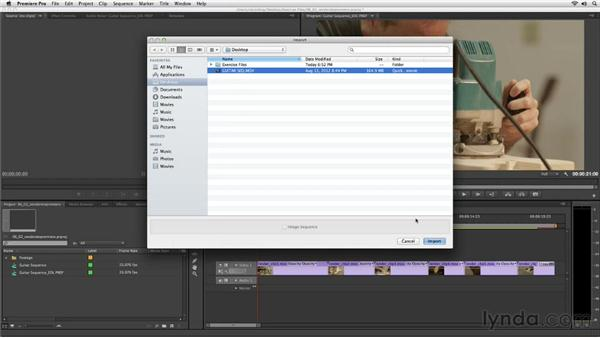 Importing rendered media back into Premiere Pro: Up and Running with SpeedGrade