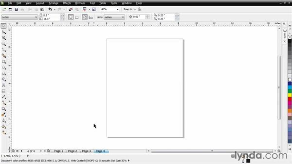 Moving and adding pages: CorelDRAW Essential Training