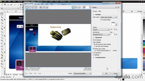 Exporting files: CorelDRAW Essential Training