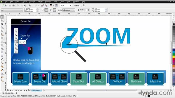 Working with zooming: CorelDRAW Essential Training